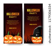 halloween party invitation with ... | Shutterstock .eps vector #1179306334