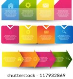 colorful progress step with... | Shutterstock .eps vector #117932869
