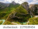 panoramic view on the verdon...   Shutterstock . vector #1179339454