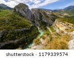 panoramic view on the verdon... | Shutterstock . vector #1179339574