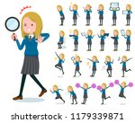 a set of school girl with... | Shutterstock .eps vector #1179339871