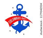 illustration of columbus day... | Shutterstock .eps vector #1179340534