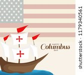 illustration of columbus day... | Shutterstock .eps vector #1179340561
