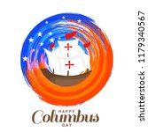 illustration of columbus day... | Shutterstock .eps vector #1179340567