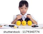 asian chinese little girl doing ... | Shutterstock . vector #1179340774