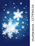 transparent glass snowflakes on ... | Shutterstock .eps vector #117934114