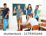 teenagers bullying their...   Shutterstock . vector #1179341644