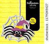 cute halloween design concept... | Shutterstock .eps vector #1179345427