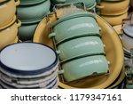 vintage metal tiffin  food... | Shutterstock . vector #1179347161