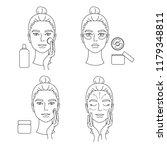 instructions for skin care....   Shutterstock .eps vector #1179348811