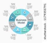 infographic for business model... | Shutterstock .eps vector #1179353791