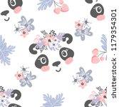 seamless pattern with cartoon... | Shutterstock .eps vector #1179354301
