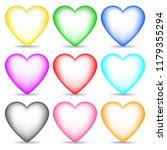 set of colored 3d hearts... | Shutterstock .eps vector #1179355294