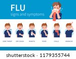 influenza symptoms infographic. ... | Shutterstock .eps vector #1179355744