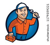 technician with the tools | Shutterstock .eps vector #1179359221