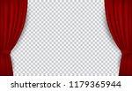 vector realistic red velvet... | Shutterstock .eps vector #1179365944