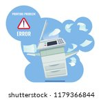 printer error illustration | Shutterstock .eps vector #1179366844