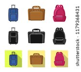 isolated object of suitcase and ... | Shutterstock .eps vector #1179368431