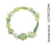 tropical flower composition ... | Shutterstock .eps vector #1179372244