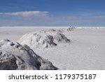 heaps of salt in the salt lake...   Shutterstock . vector #1179375187