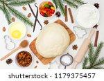 ingredients for christmas... | Shutterstock . vector #1179375457
