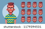 set of character's emotions.... | Shutterstock .eps vector #1179394531