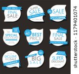 modern sale banners and labels... | Shutterstock .eps vector #1179401074