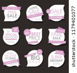 modern sale banners and labels... | Shutterstock .eps vector #1179401077