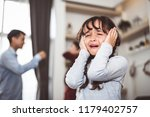 little girl crying because of... | Shutterstock . vector #1179402757