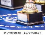 pedestal with cups and prizes...   Shutterstock . vector #1179408694