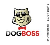 cool dog logo vector... | Shutterstock .eps vector #1179410041
