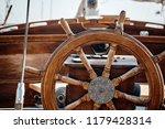 closeup of a wheel and deck of... | Shutterstock . vector #1179428314