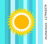 sun with sea blue background  ... | Shutterstock .eps vector #117943579
