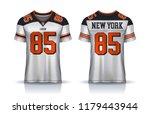 american football jersey t... | Shutterstock .eps vector #1179443944