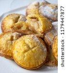 homemade apple hand pies  | Shutterstock . vector #1179447877