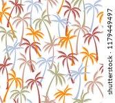 coconut palm tree pattern... | Shutterstock .eps vector #1179449497