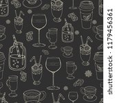 seamless dark gray background... | Shutterstock .eps vector #1179456361