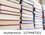 stack of used old books... | Shutterstock . vector #1179487321