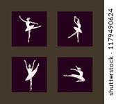 ballerina dancer performance... | Shutterstock .eps vector #1179490624