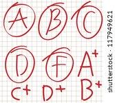 hand drawn grades   Shutterstock .eps vector #117949621
