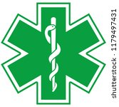 medical symbol of the emergency ... | Shutterstock . vector #1179497431