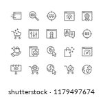 simple set of seo related... | Shutterstock .eps vector #1179497674