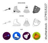 darts darts  white skate skates ... | Shutterstock . vector #1179515227