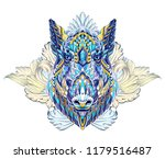 patterned head of boar. pig.... | Shutterstock .eps vector #1179516487