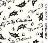 have a holly jolly christmas...   Shutterstock .eps vector #1179516571