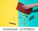woman fashion accessories ... | Shutterstock . vector #1179528211