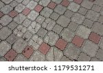 damaged asphalt road with...   Shutterstock . vector #1179531271