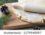 cooking christmas cookies... | Shutterstock . vector #1179540097