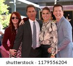 Small photo of LOS ANGELES - SEP 13: Megan Mullally, Eric McCormack, Debra Messing, Sean Hayes at the Eric McCormack Star Ceremony on the Hollywood Walk of Fame on September 13, 2018 in Los Angeles, CA