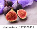 fresh figs. whole figs and... | Shutterstock . vector #1179563491